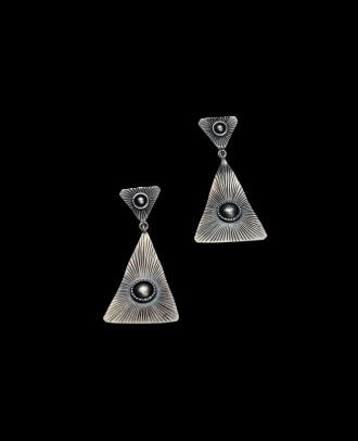 حلق مصنوع من الفضة - 3549