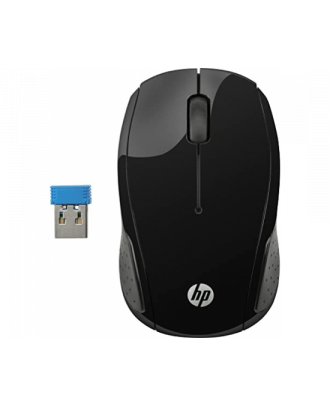 HP 200 Wireless Black Mouse