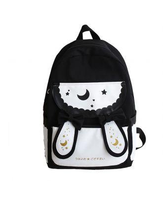 Backpack For Women Waterproof Laptop School Backpack Star - Black