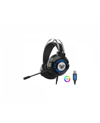 AULA S602 Bass Stereo Earphones RGB Light Game Wired Gaming Headset