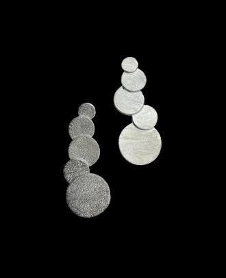 حلق مصنوع من الفضة - K1111