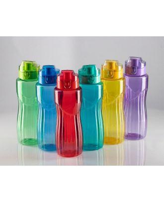 زجاجة مياه بلاستيك مضلعة ضد التسريب سعة 800 مل