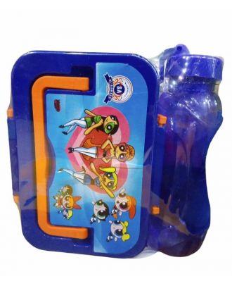 لانش بوكس الروضه مع زجاجة مياه بلاستيك بى 5