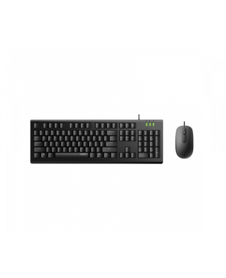Rapoo X120Pro Wired Optical Mouse Keyboard Combo Black