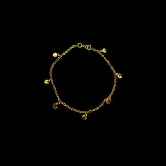 خلخال مصنوع من  فضة مطلى ذهب- 3263