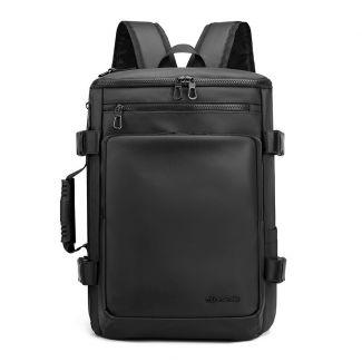 شنطة ظهر لاب توب للرجال واسعة خفيفة حقيبة سفر مزوده بمنفذ USB اوريجنال - 1204 black