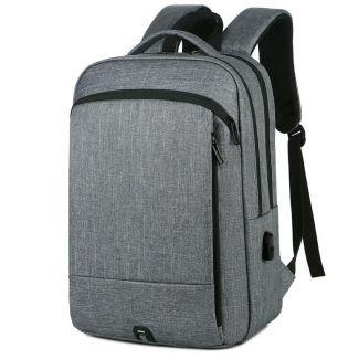 شنطة ظهر لاب توب للرجال حقيبة سفر مزوده بمنفذ USB اوريجنال - 2024 Dark grey