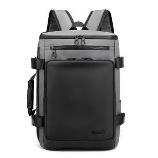 شنطة ظهر لاب توب للرجال واسعة خفيفة حقيبة سفر مزوده بمنفذ USB اوريجنال - 1204 grey
