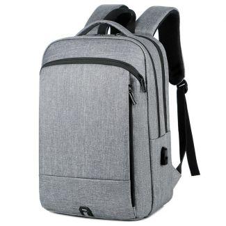 شنطة ظهر لاب توب للرجال حقيبة سفر مزوده بمنفذ USB اوريجنال - 2024 Light grey
