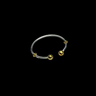 انسيال مصنوع من الفضة وفضة مطلى ذهب- K1024