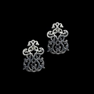 حلق مصنوع من الفضة - K1107