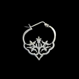 حلق مصنوع من الفضة - K1109
