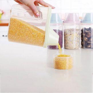 حافظ بقوليات بلاستيك صحي 1.5 لتر