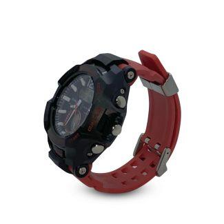 ساعة  جى-شوك المضاده للماء, باوستيك بلاستيك مطاطى احمر بشاشة صغيرة - فيرست كوبى